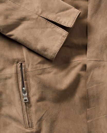 High Moor Leather Jacket With Waterfall Collar