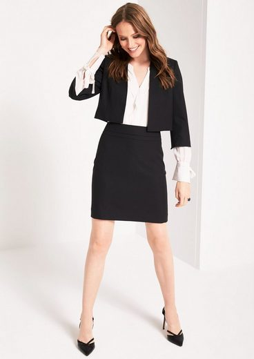 Comma Business Skirt With Fine Tone-in-tone Pattern Minimum