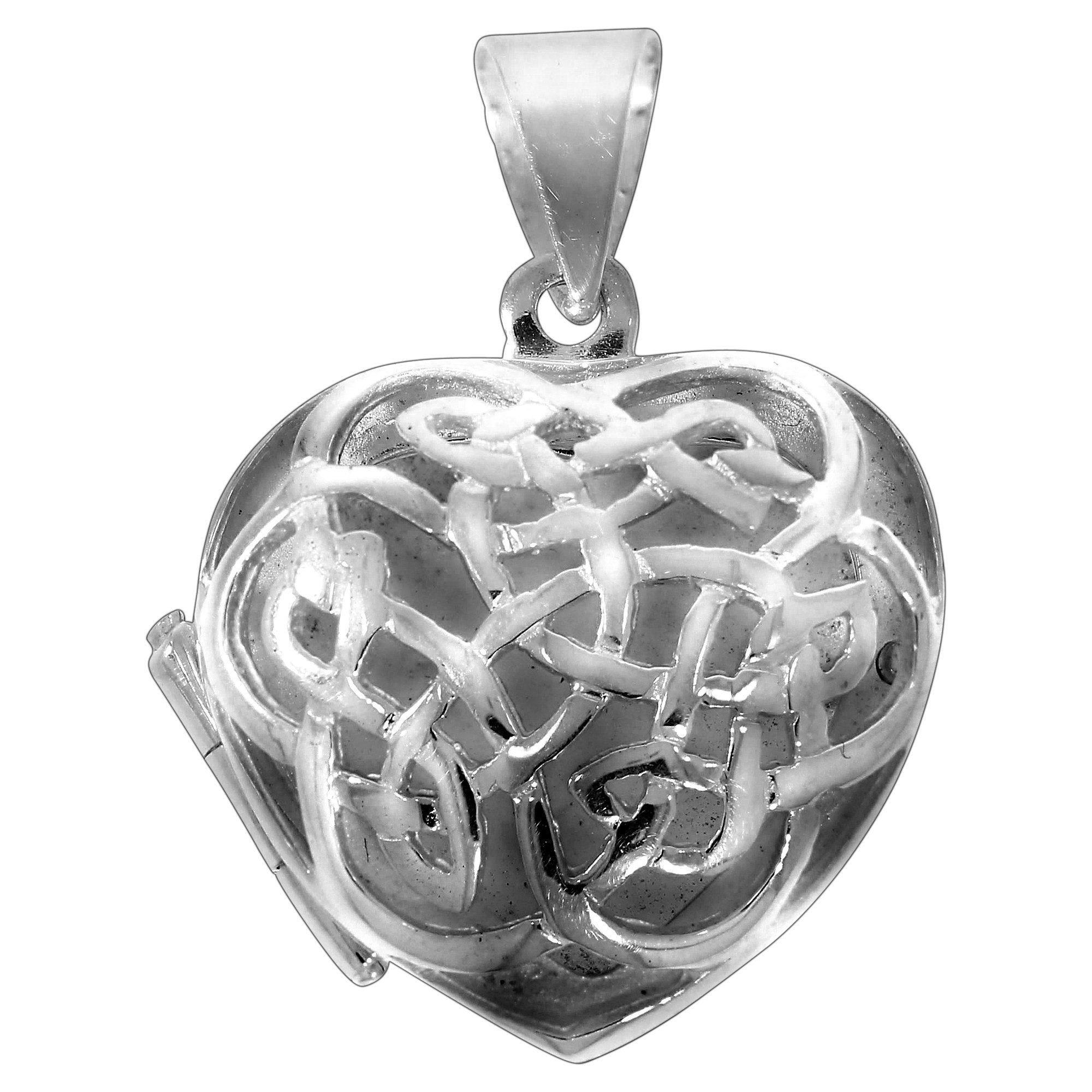 Firetti Anhänger »925/- Sterling Silber rhod Medaillon Herz«