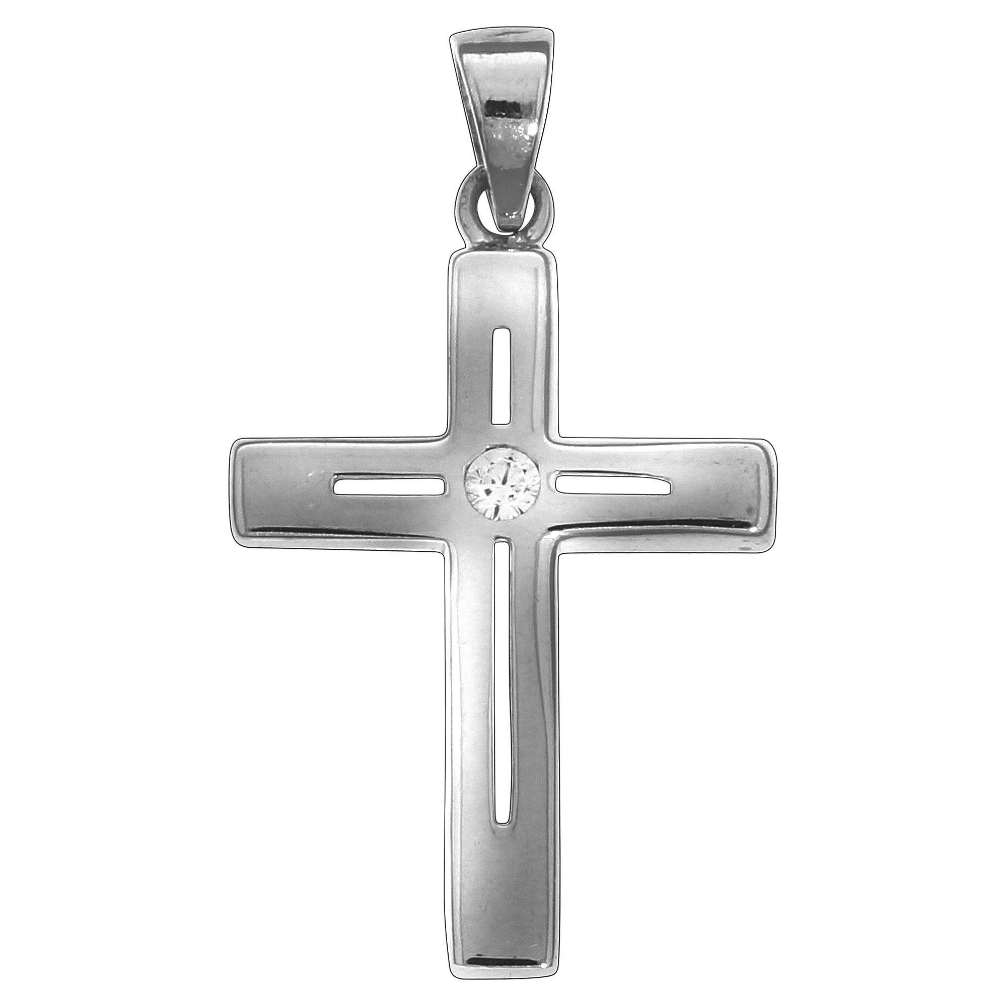 Firetti Anhänger »925/- Sterling Silber Kreuz Zirkonia«