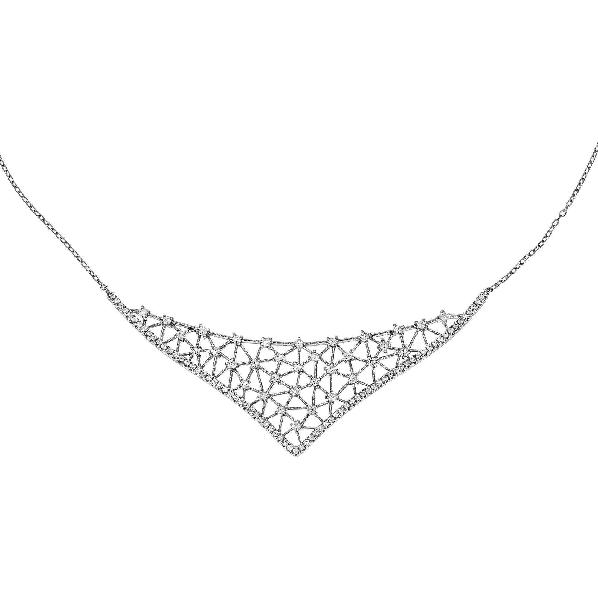 Firetti Collier »925/- Sterling Silber rhodiniert Zirkonia«