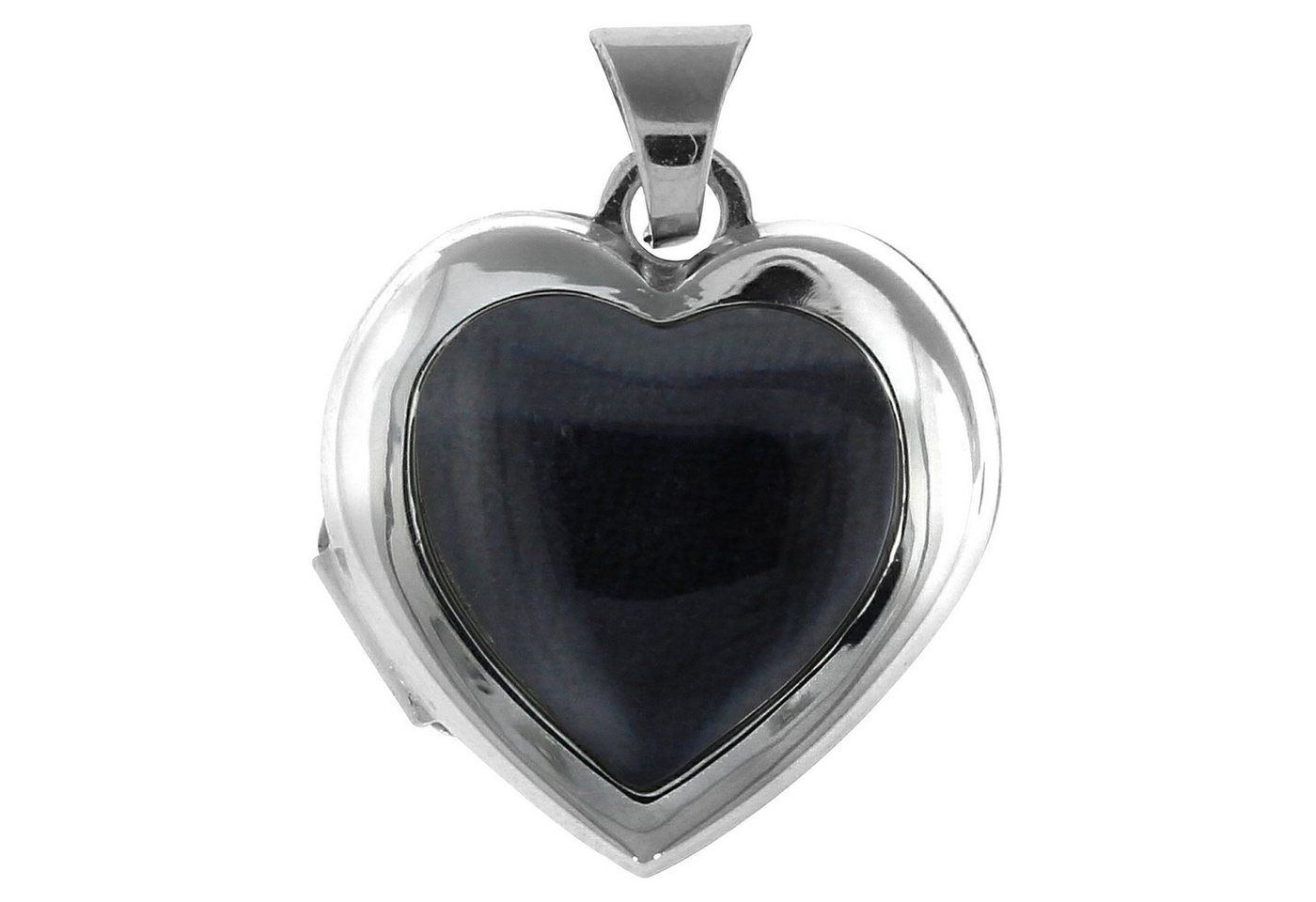 Firetti Anhänger 925/- Sterling Silber rhod Medaillon Herz | Schmuck > Halsketten > Herzketten | Weiß | Firetti