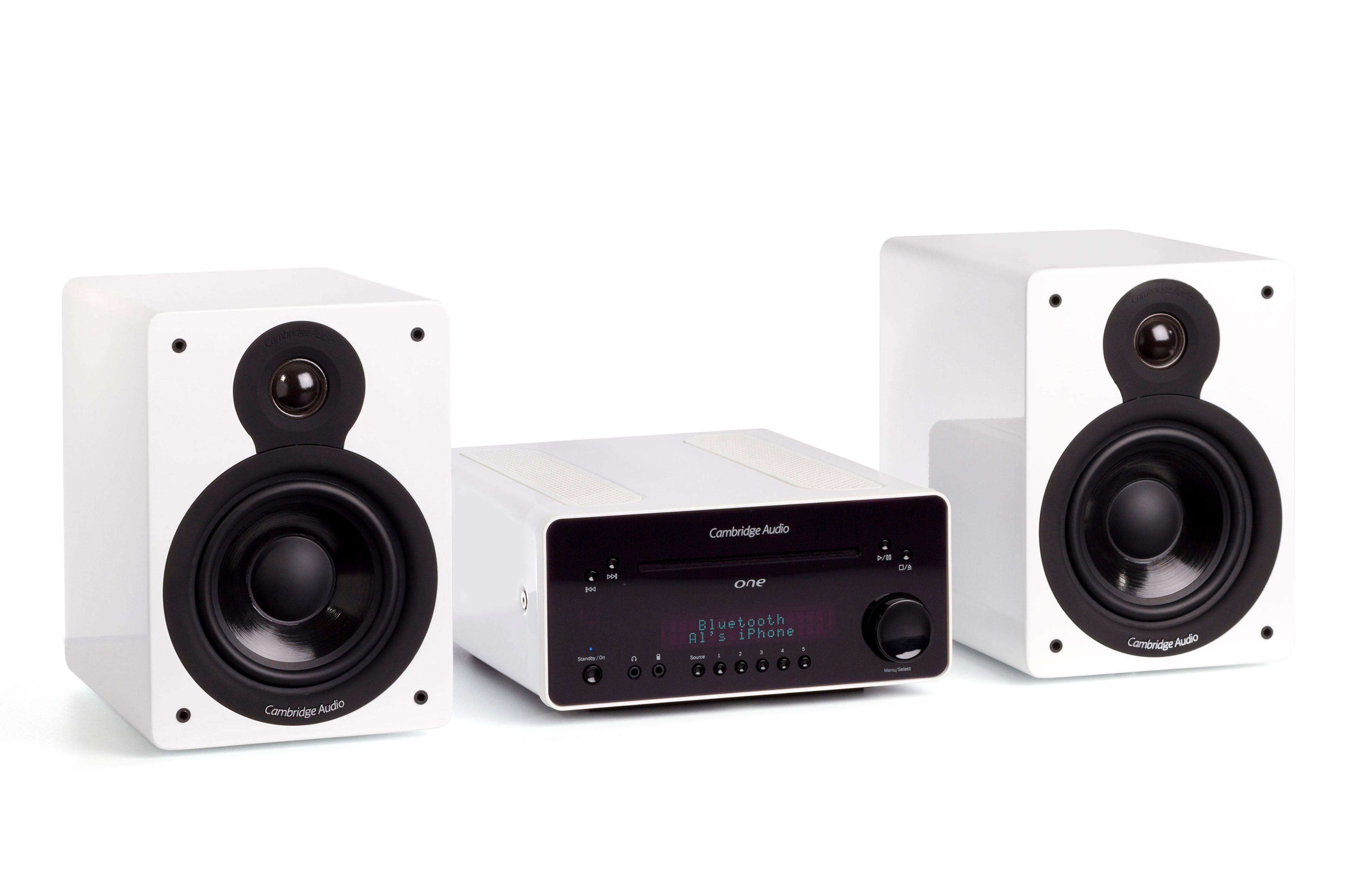 Cambridge Audio Komplett-Musiksystem mit Bluetooth, CD, DAB+ / FM Radio & USB »One + Minx XL«