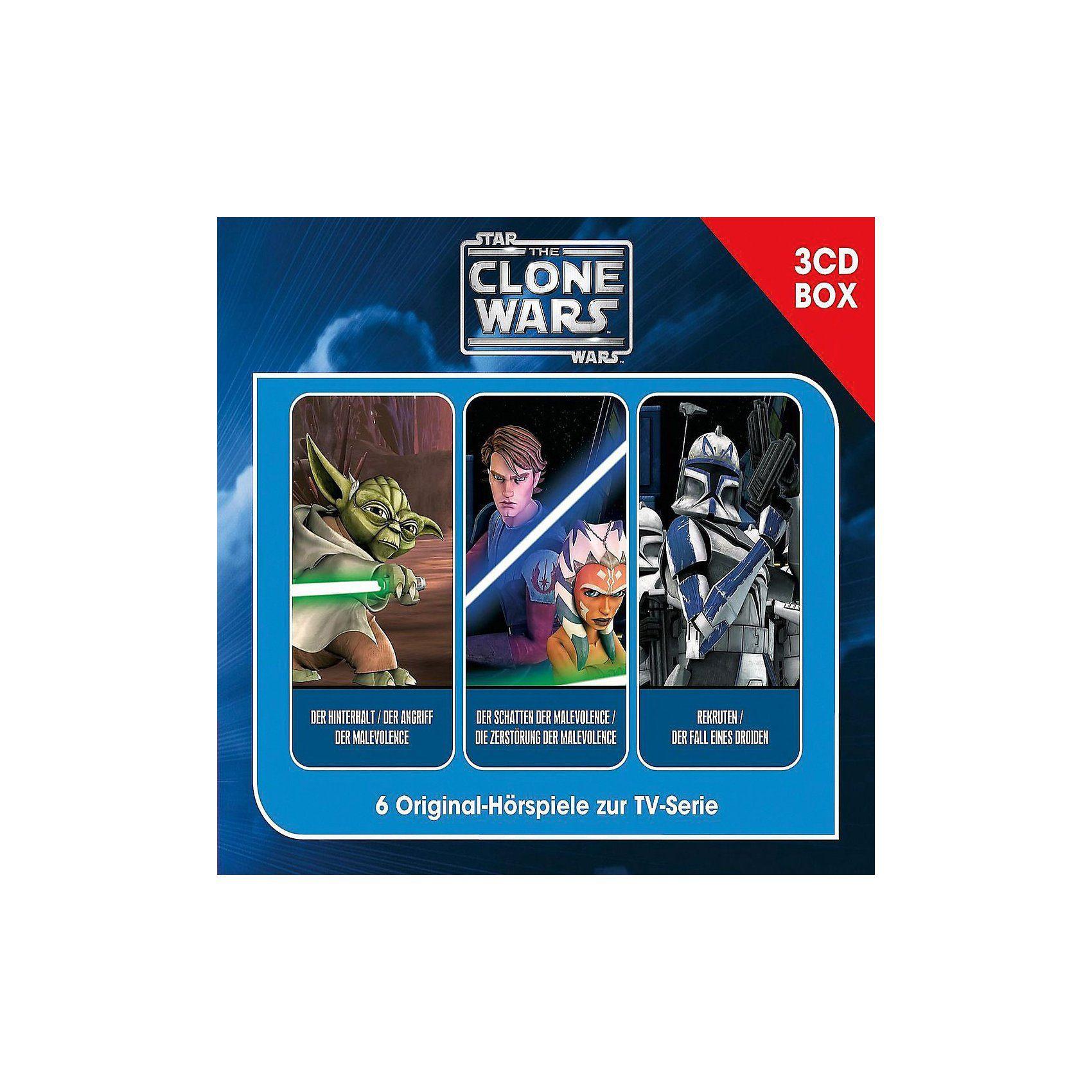 Universal CD The Clone Wars - Hörspielbox Vol. 1, 3 Audio CDs