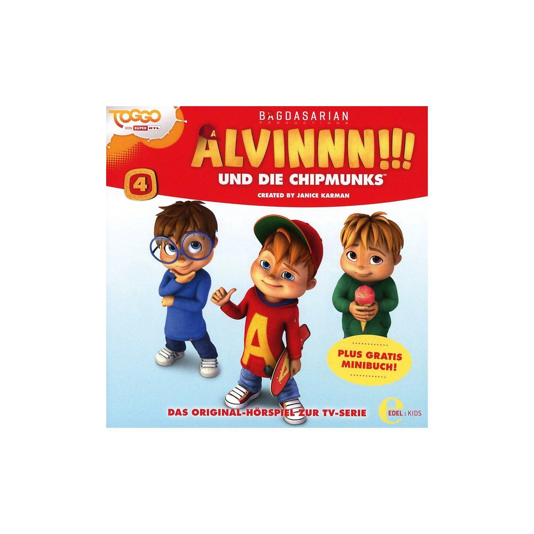 Edel CD Alvinnn!!! und die Chipmunks 4 - Original Hörspiel