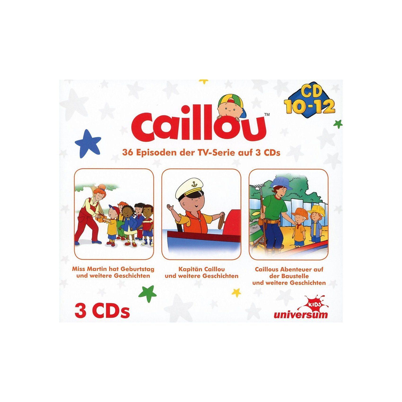 CD Caillou Hörspielbox 4 (CD 10-12)(3 CDs)