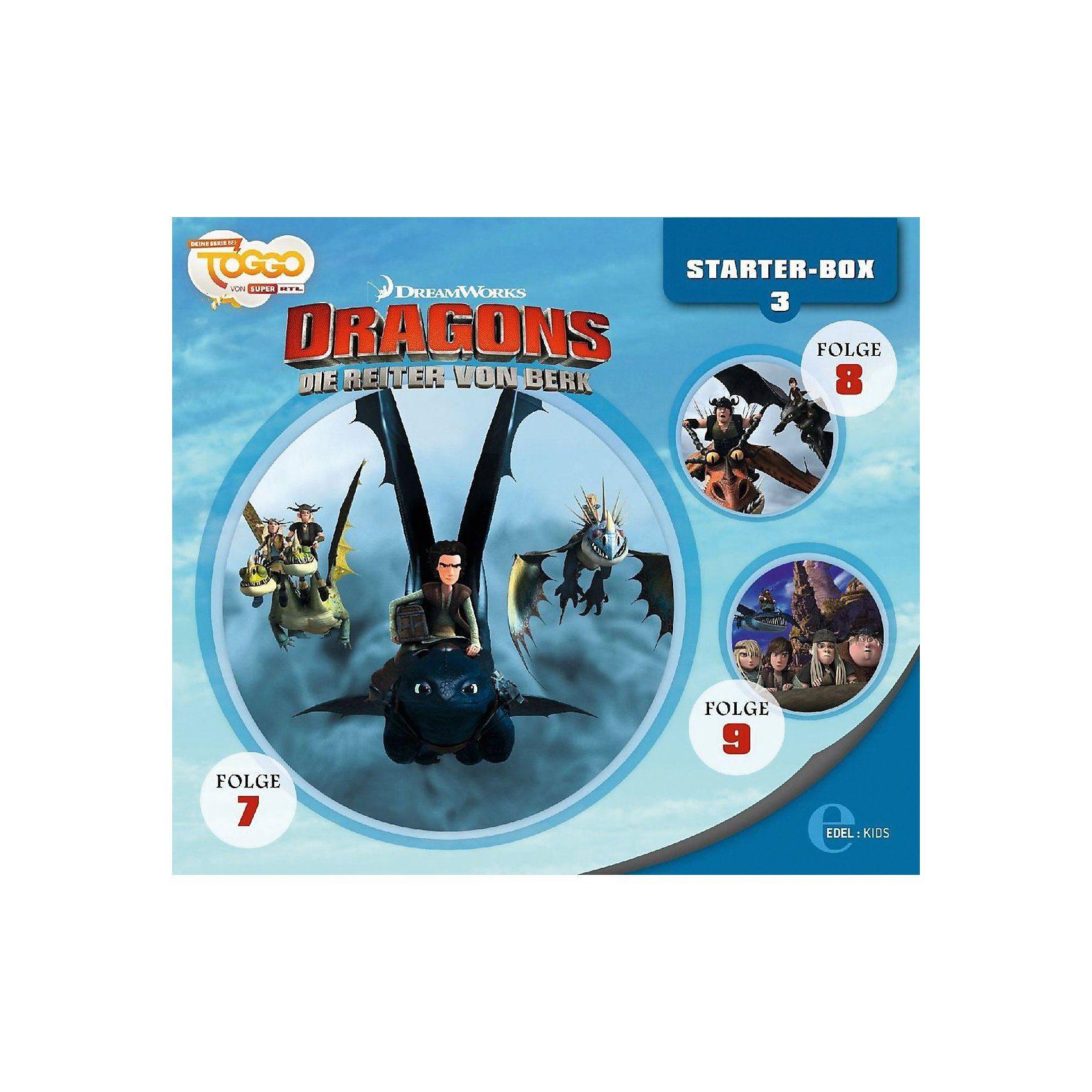Edel CD Dragons - Die Reiter von Berk - Starter-Box 3 (3 CDs, Fol