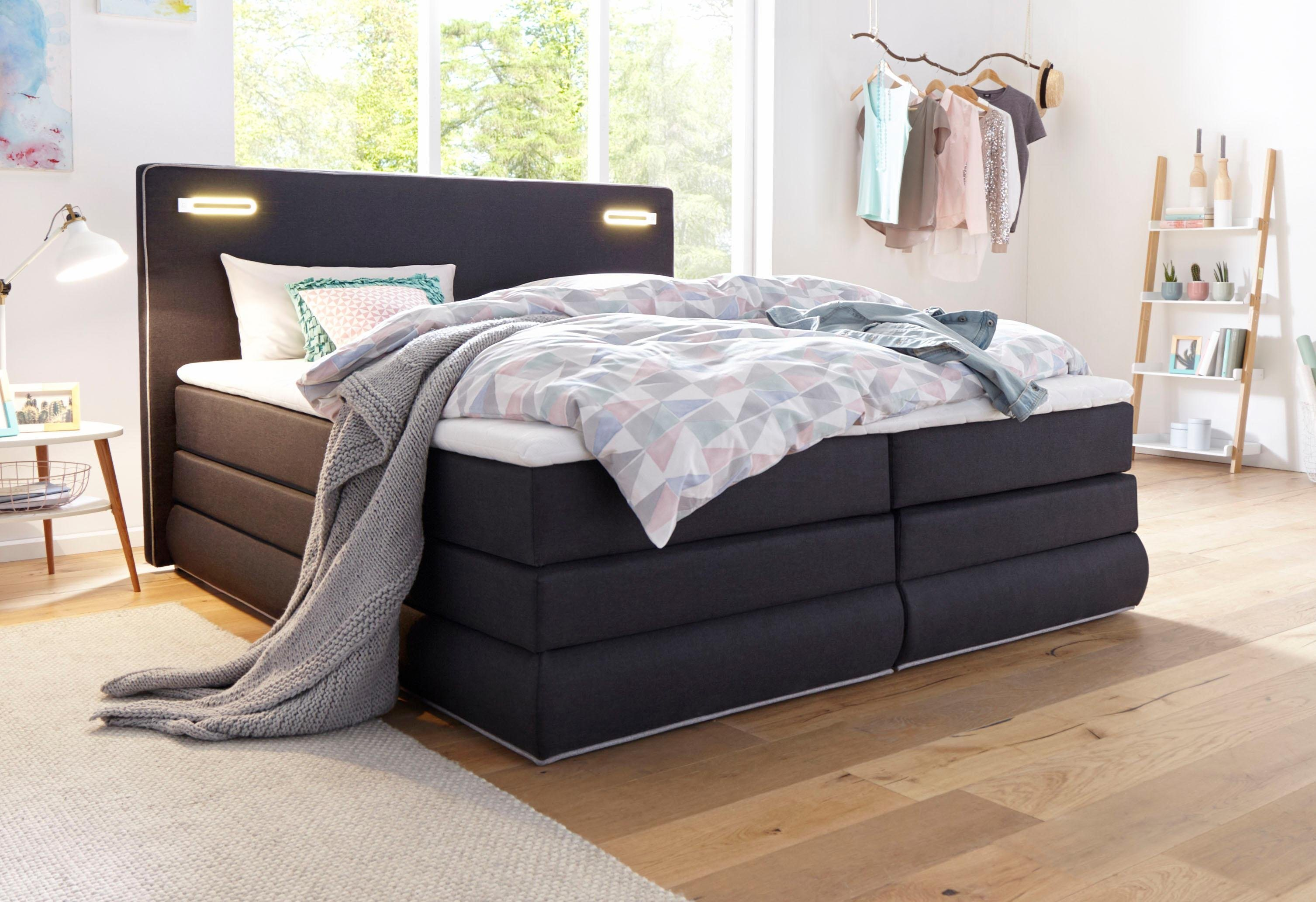 boxspringbetten 180x200 cm mit bettkasten im angebot. Black Bedroom Furniture Sets. Home Design Ideas