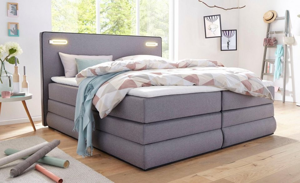 collection ab boxspringbett rubona inkl bettkasten led beleuchtung und topper online kaufen. Black Bedroom Furniture Sets. Home Design Ideas