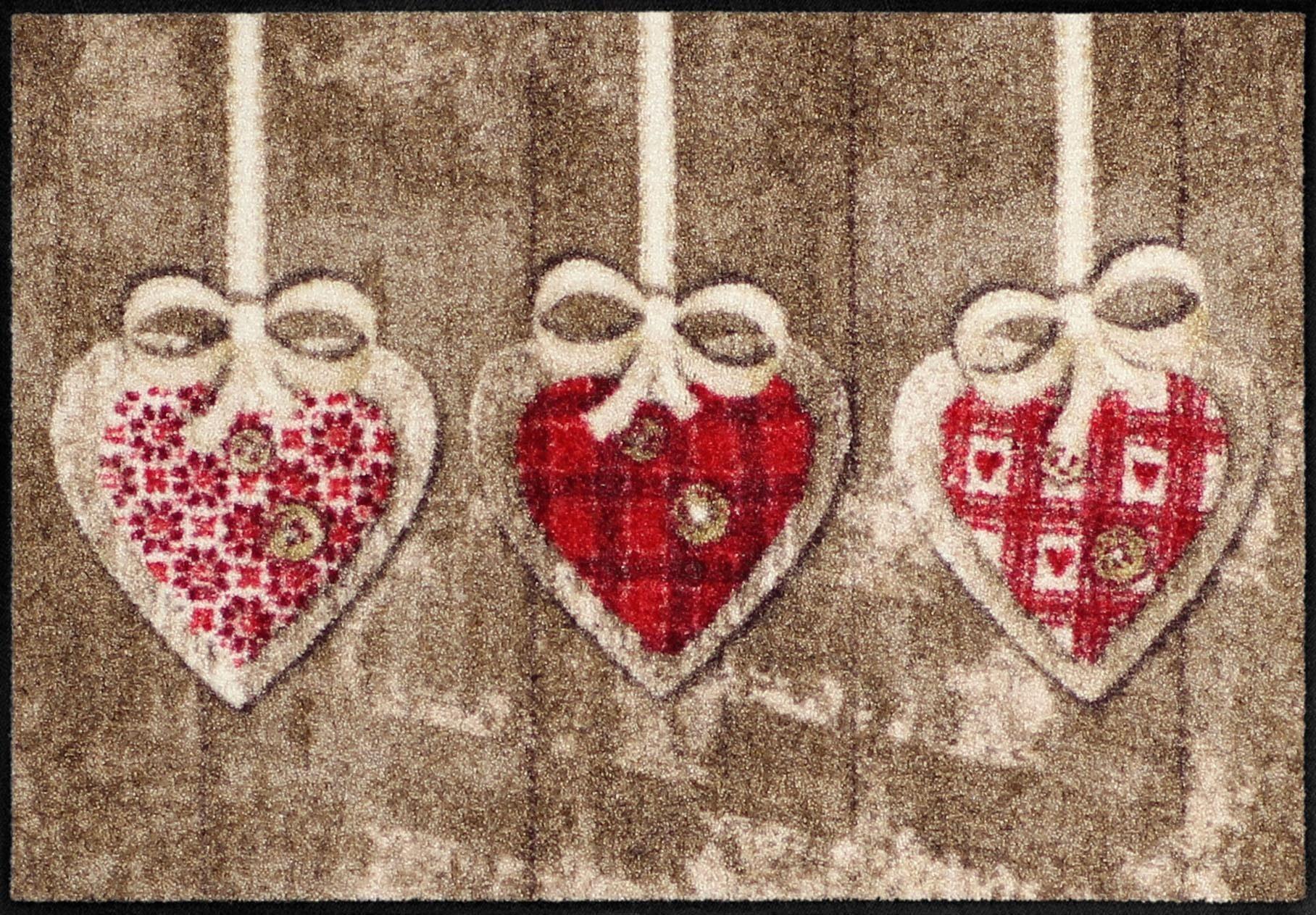 Fußmatte »Herzanhänger«, Salonloewe, rechteckig, Höhe 6 mm