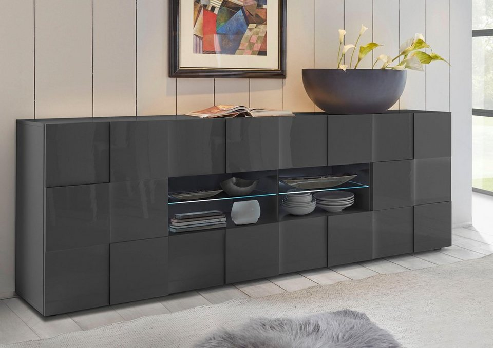 Painted Glass Sideboard