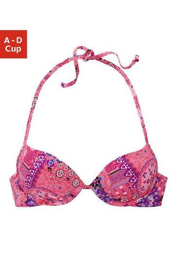 Buffalo Push-Up-Bikini-Top »Shari«, mit Paisleydruck