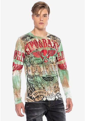 Cipo & Baxx Cipo & Baxx marškinėliai ilgomis ranko...