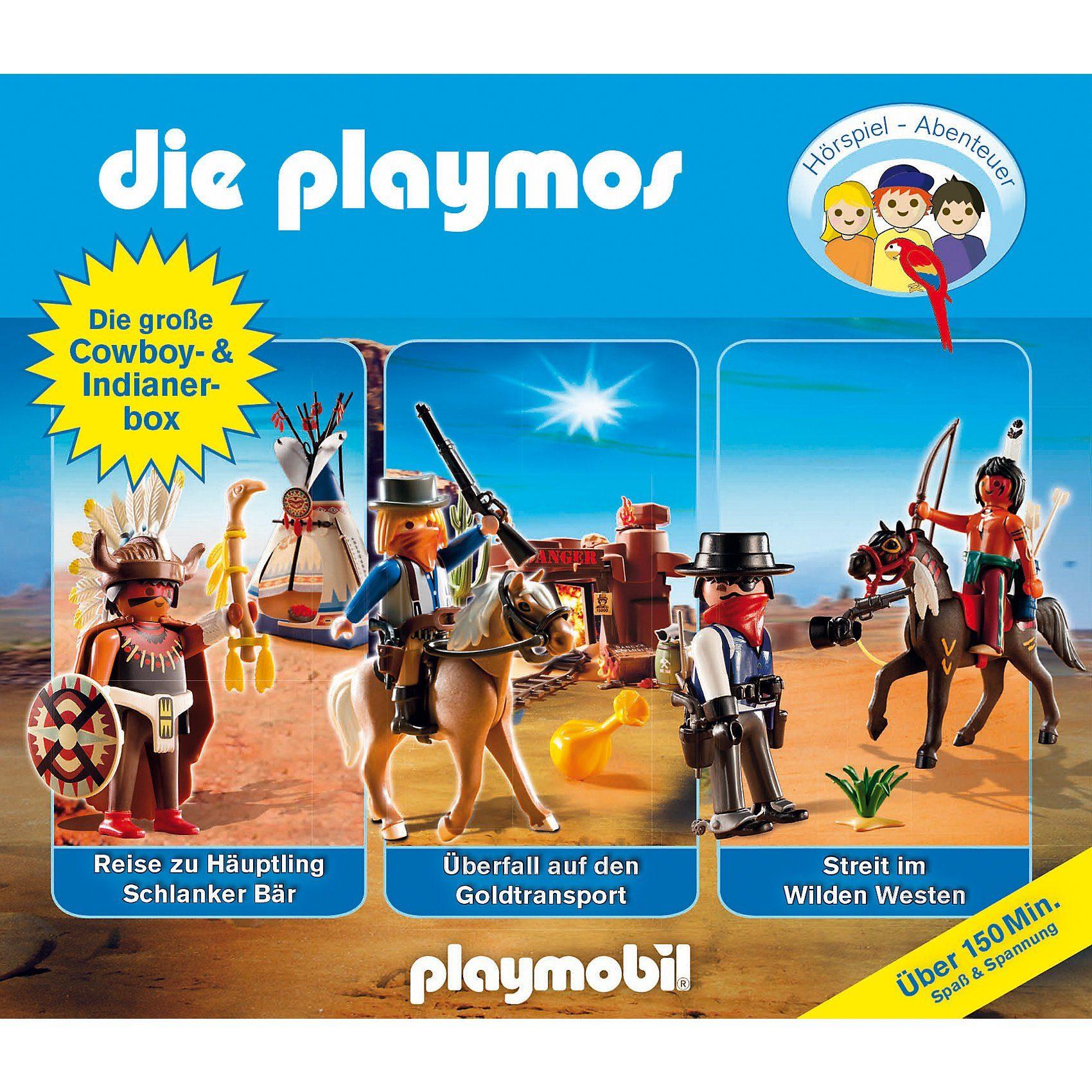 Edel CD Die Playmos - Die große Cowboy- und Indianer Box (3 CDs)