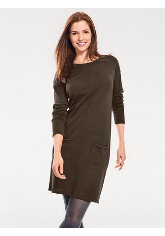 LINEA TESINI BY HEINE Megzta suknelė su kišenė su kišenė