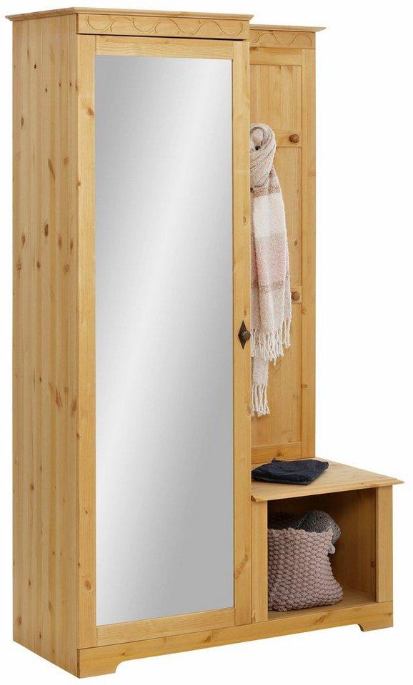 home affaire kompaktgarderobe laura mit 1 spiegelt r breite 110 cm online kaufen otto. Black Bedroom Furniture Sets. Home Design Ideas