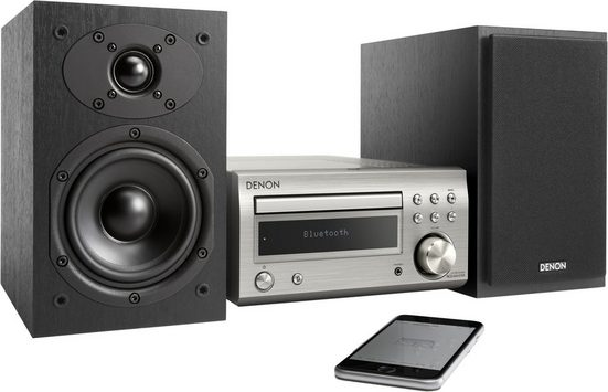 Denon »D-M41« Microanlage (Digitalradio (DAB), FM-Tuner mit RDS, 60 W, CD-Player, Bluetooth)