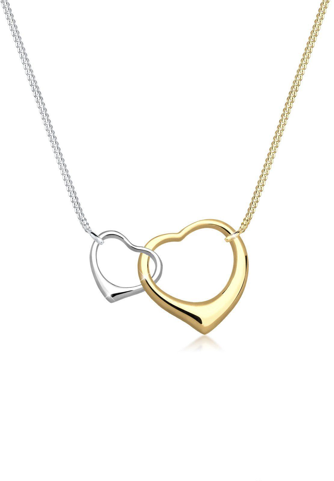 Elli Halskette »Herzen Verschlungen 925 Sterling Silber«