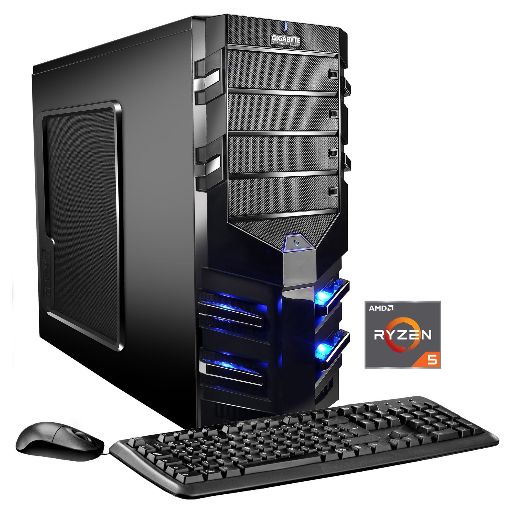 Hyrican Gaming PC AMD Ryzen™ 5 1500X 16GB 120GB SSD 1TB HDD AMD RX 570 »Alpha Gaming 5622«