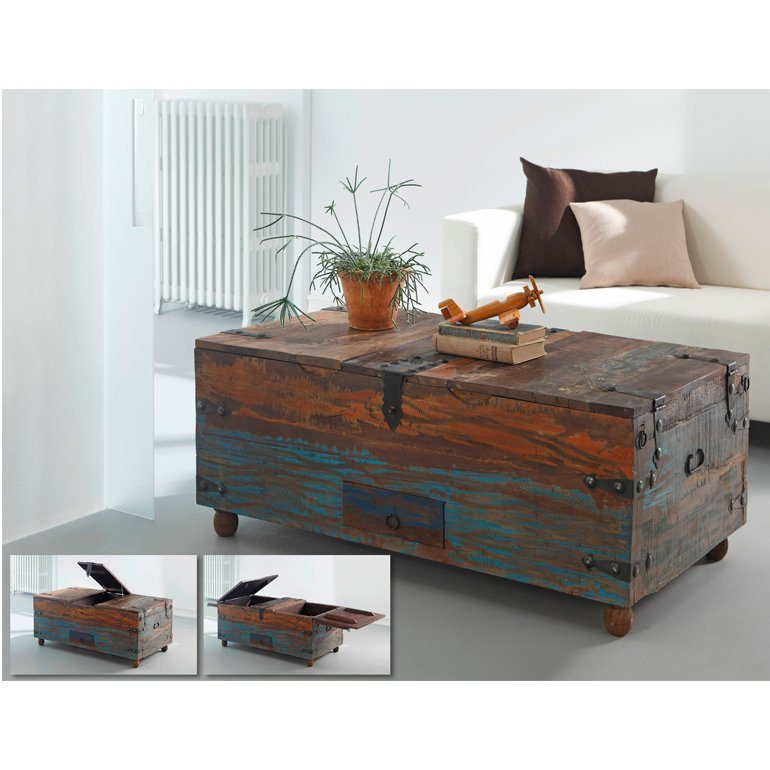 wolf m bel truhe mit 3 deckeln 1 schublade himalaya online kaufen otto. Black Bedroom Furniture Sets. Home Design Ideas
