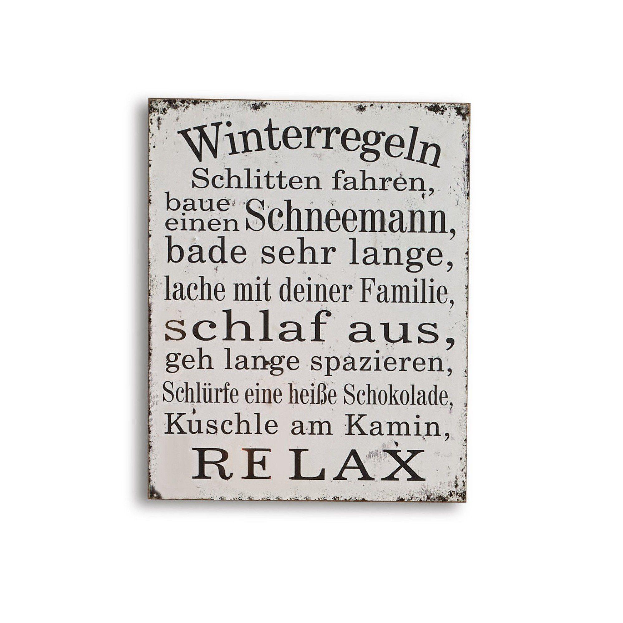 Loberon Dekoboard »Winterregeln«