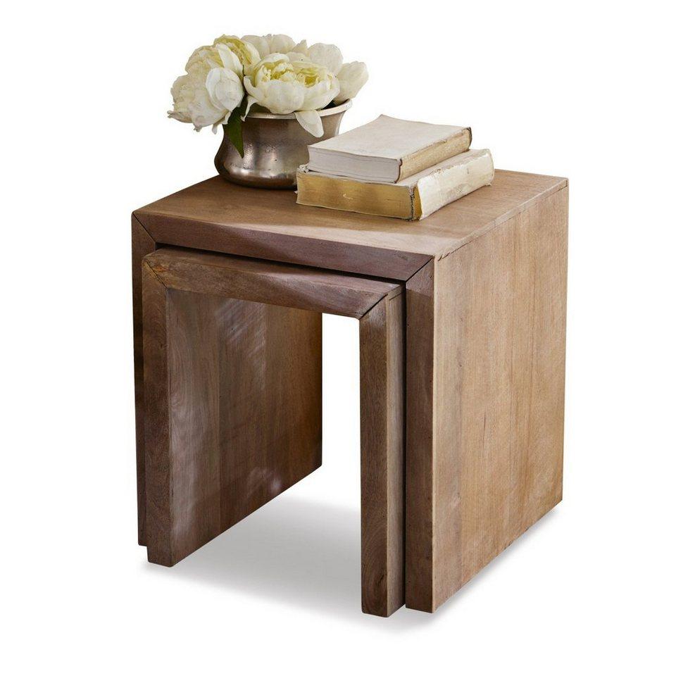 loberon beistelltisch 2er set hadley kaufen otto. Black Bedroom Furniture Sets. Home Design Ideas