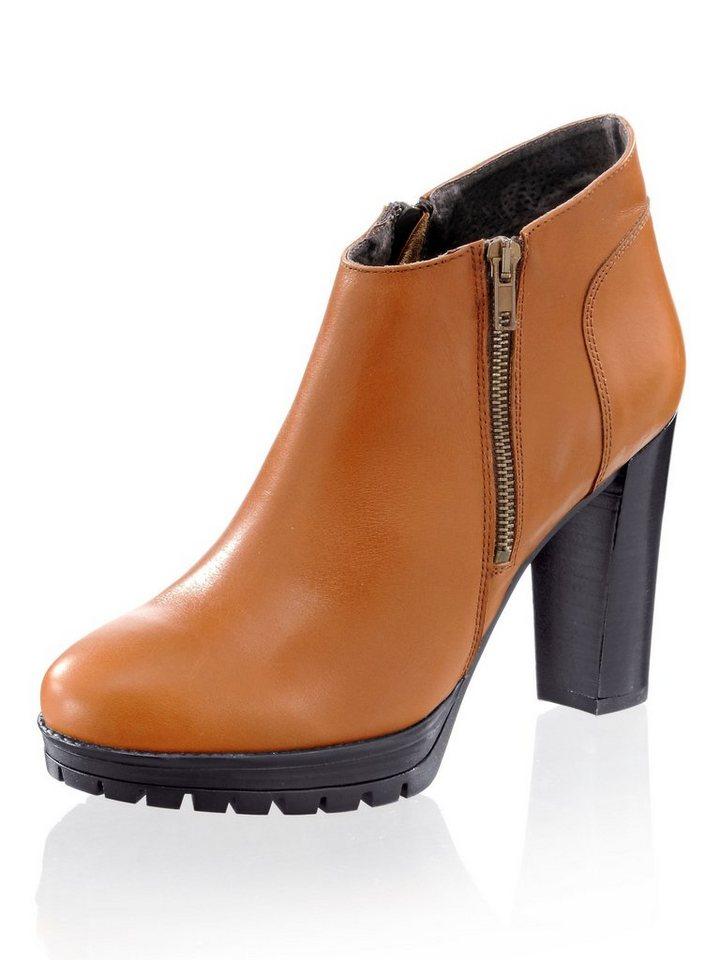 7d2a3fa3e77b04 Alba Moda Ankle-Boot mit Blockabsatz und flachem Plateau online ...