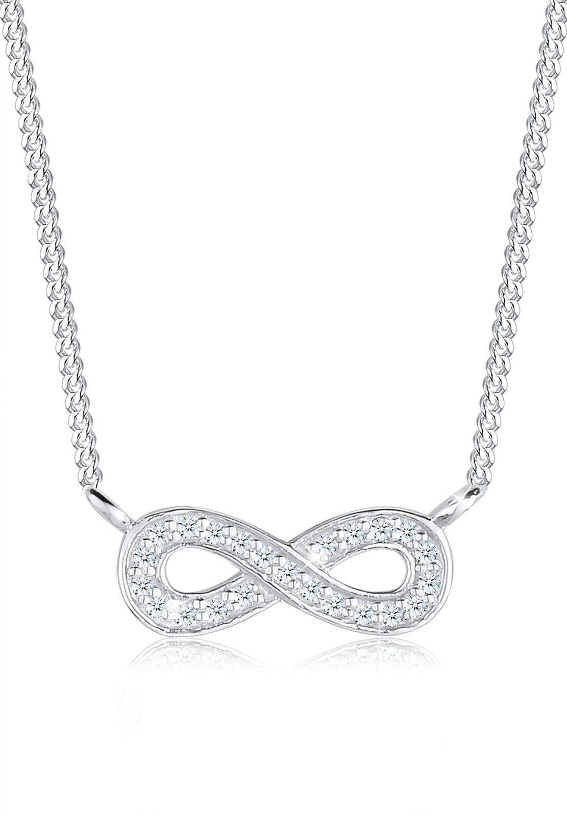 Elli Halskette »Infinity Unendlichkeit Diamant 0,23 ct 925 Silber«