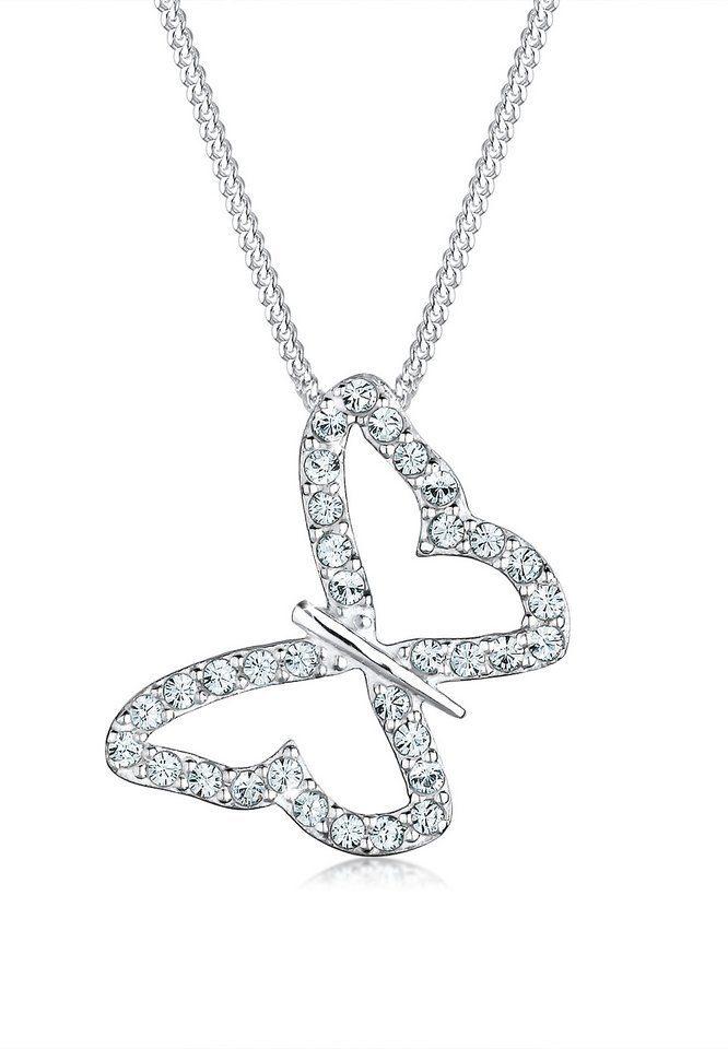 Elli Halskette »Schmetterling Swarovski® Kristalle 925 Silber«