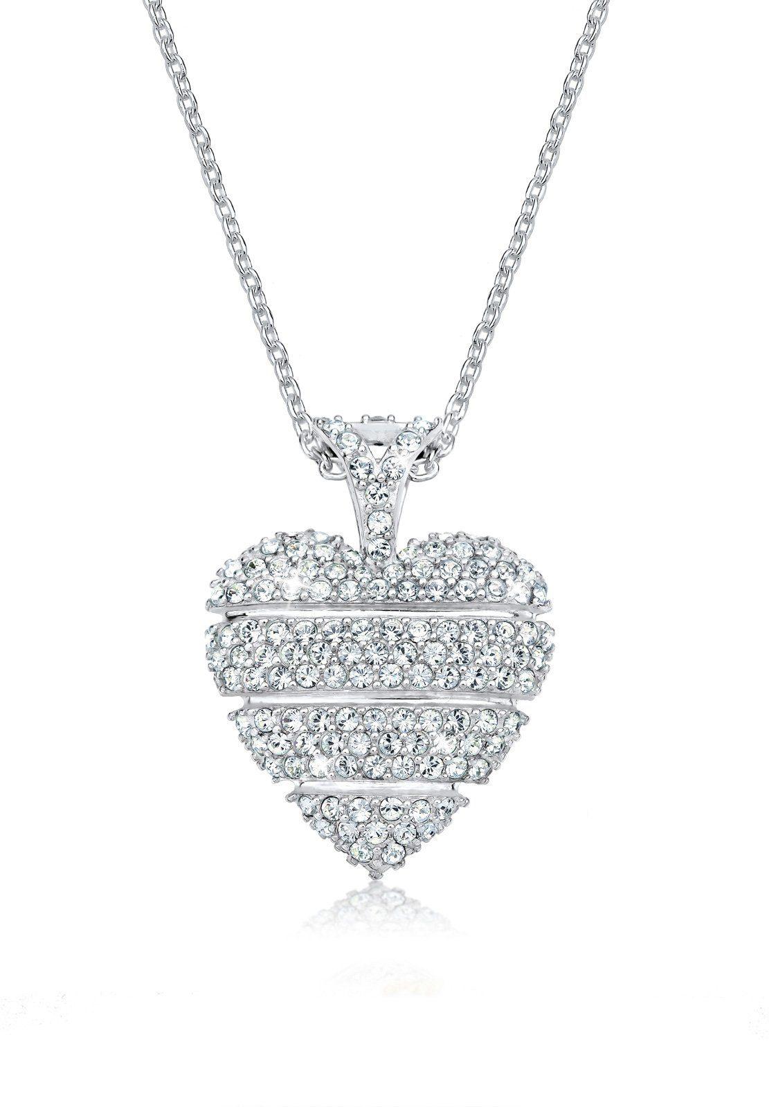 Elli Halskette »Herz Love Swarovski® Kristalle 925 Sterling Silber«