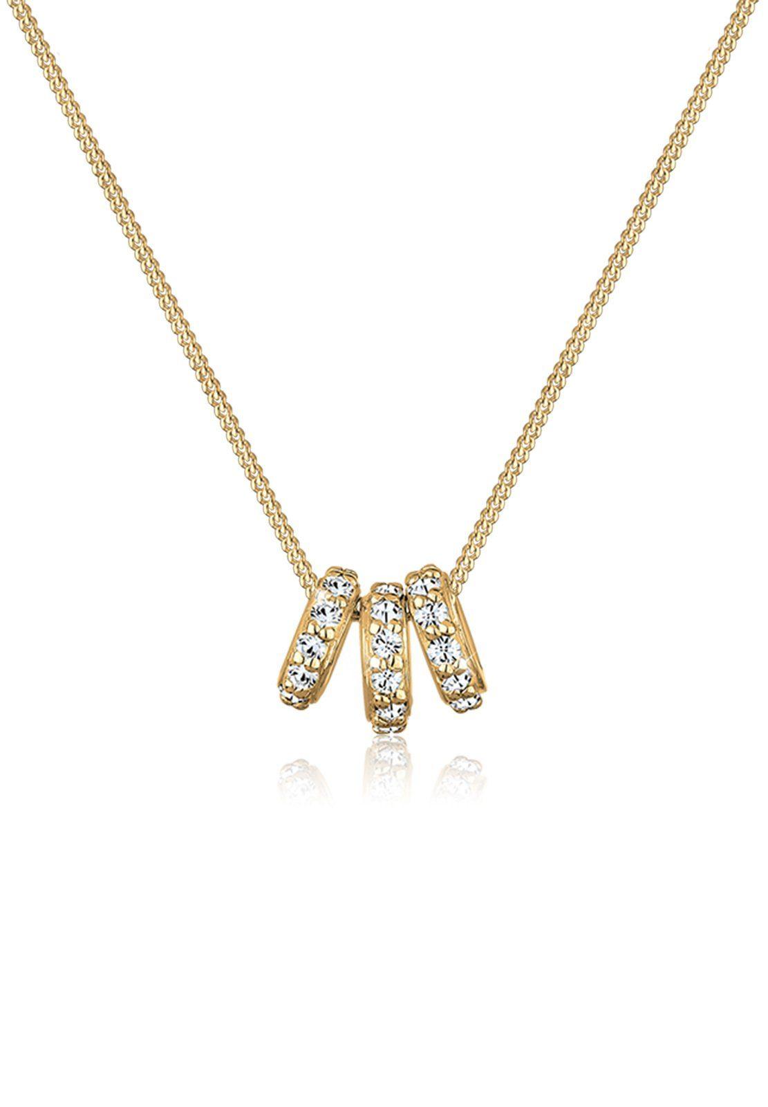 Elli Halskette »Ringe Swarovski® Kristalle 925 Sterling Silber«