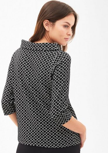 s.Oliver BLACK LABEL Jacquard-Shirt mit Retromuster