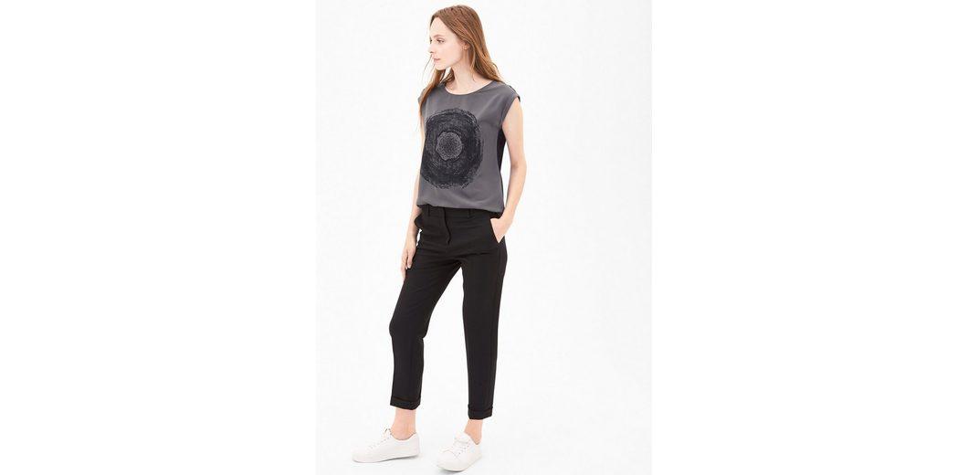 2018 Online-Verkauf Freies Verschiffen Manchester Großer Verkauf s.Oliver BLACK LABEL Blusenshirt mit Glanzdruck Billig Extrem GC4bqLg8f