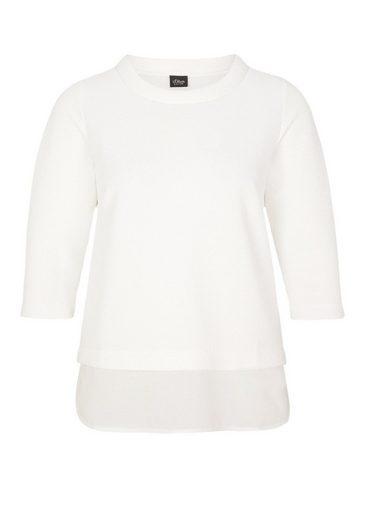 S.oliver Noir Jacquard-shirt Im Couche-look