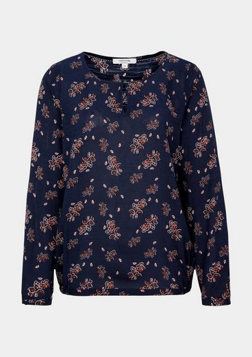 Comma Casual Long-sleeved Blouse With Allovermuster