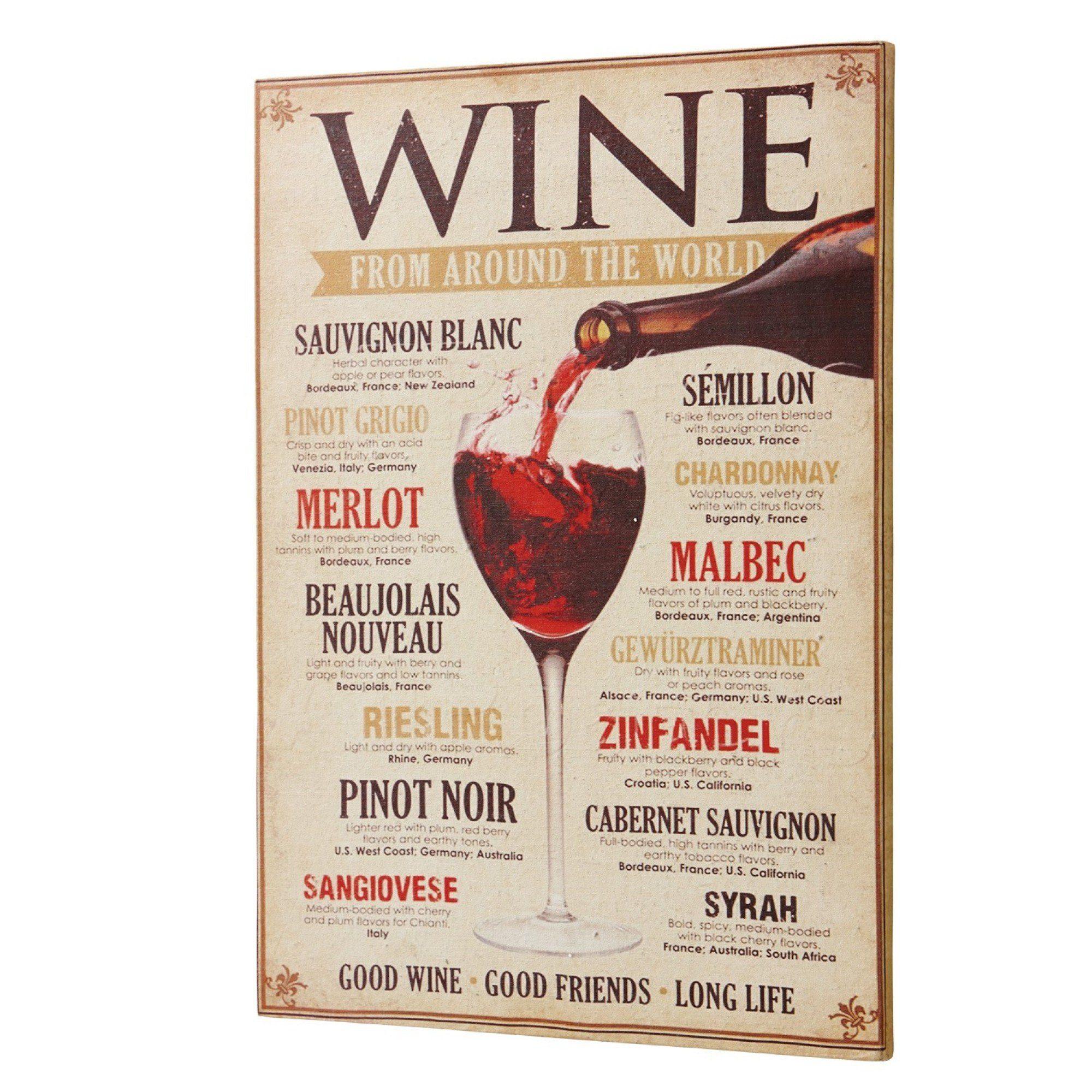 Loberon Dekoboard »Winecard«