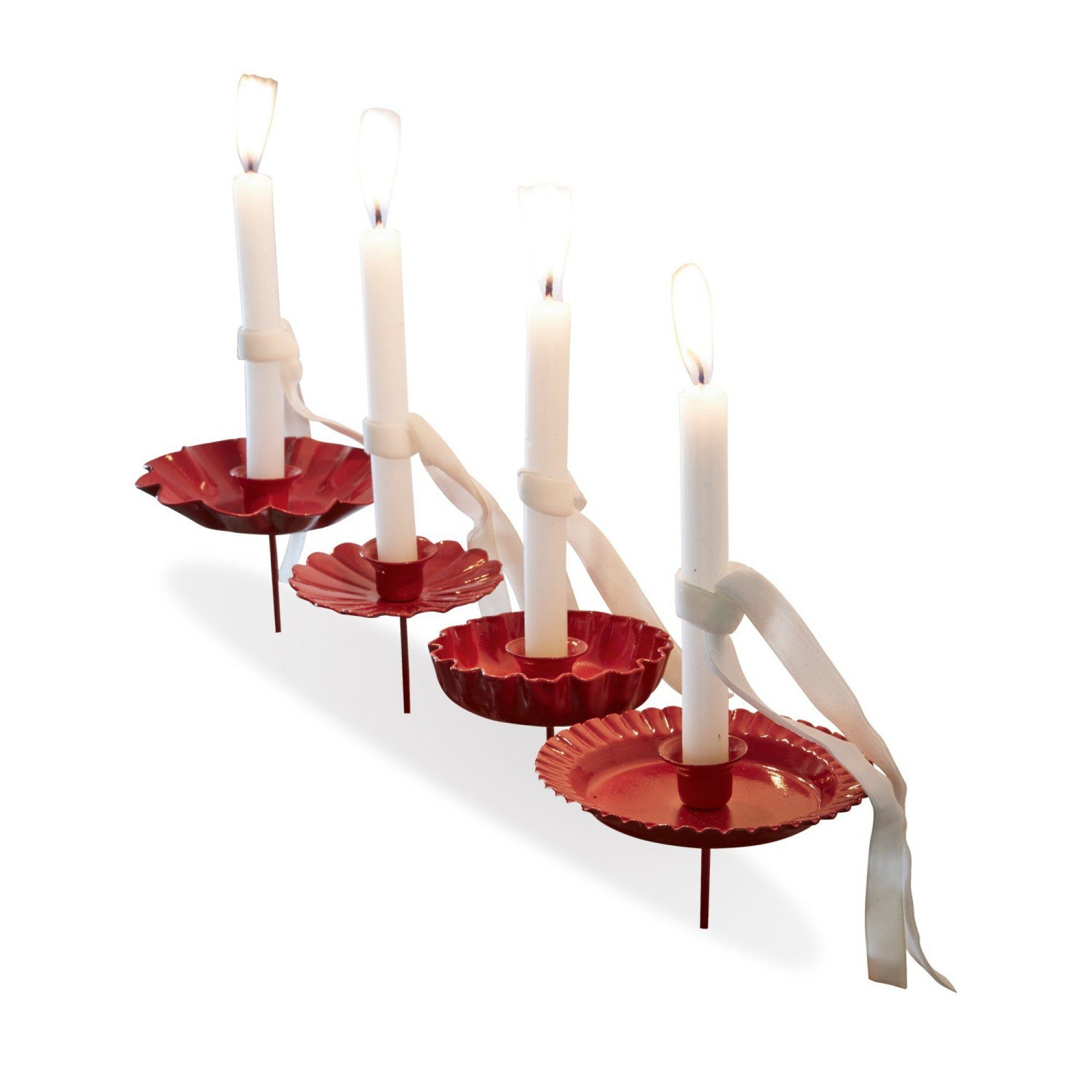 Loberon Kerzenhalter 4er Set »Rosika«