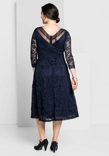 sheego Style Abendkleid, mit transparenten Ärmeln