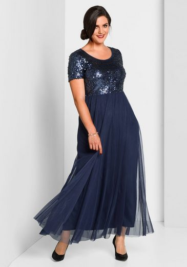 Sheego Abendkleid mit Pailletten