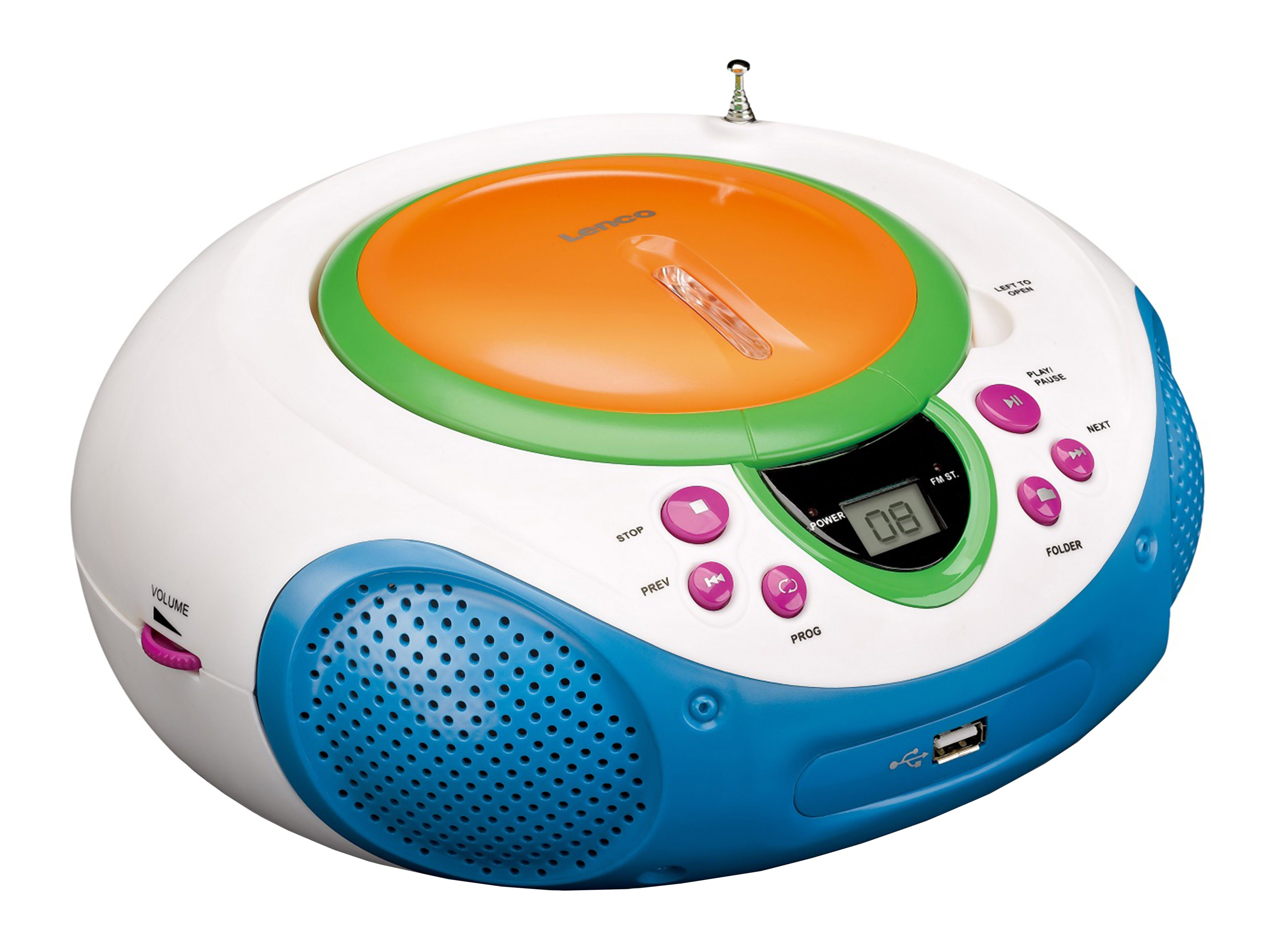 Lenco Kinder UKW-Radio mit CD/MP3 Player & USB-Anschluss »SCD-40 USB Kids«