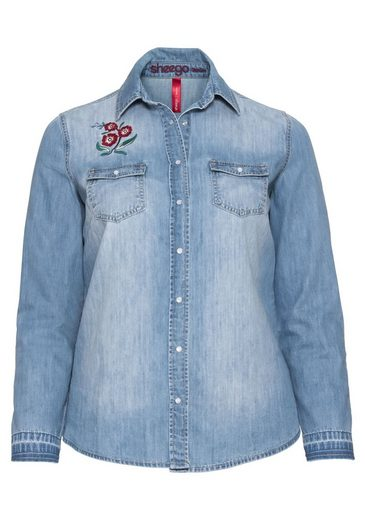 sheego Denim Jeansbluse