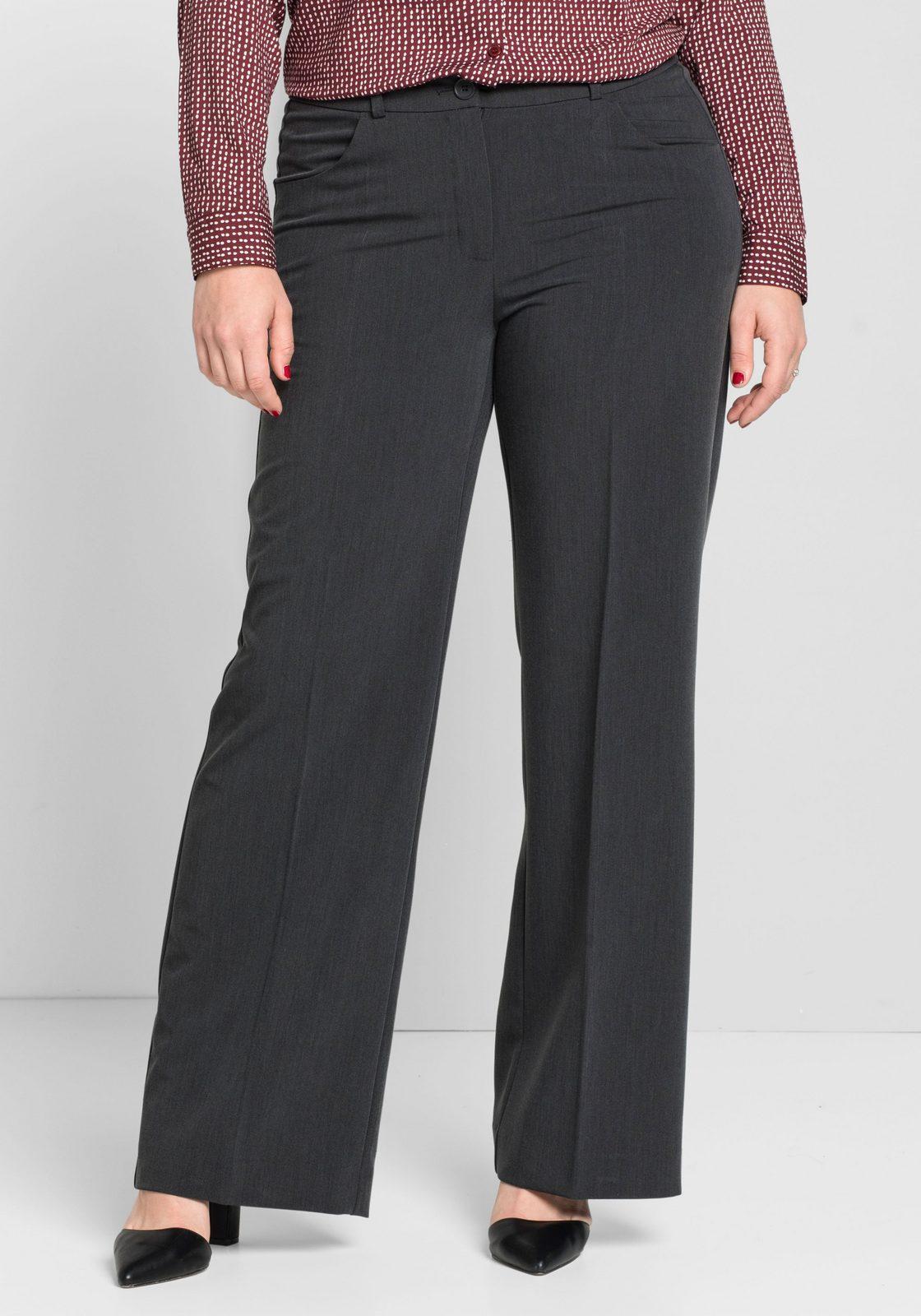 sheego Class Bügelfaltenhose, knitterarm;