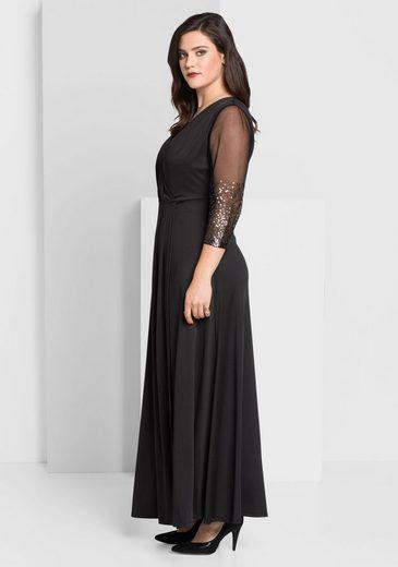 sheego Style Abendkleid, in Wickeloptik