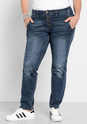 sheego Denim Stretch-Jeans, in Boyfriend Form