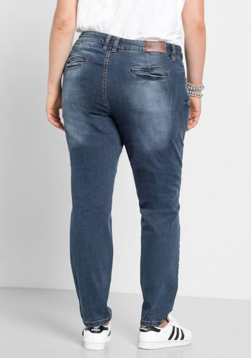 sheego Denim Stretch-Jeans, in Boyfriend Form