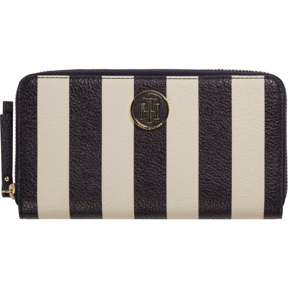 Tommy Hilfiger Portemonnaie Effortless Novelty Lrg Za Wallet Stripe