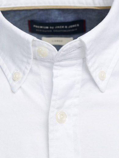 Jack & Jones Oxford-Web- Langarmhemd