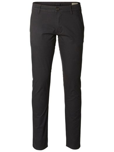 Selected Femme Regular Fit - Chinos mit Logo