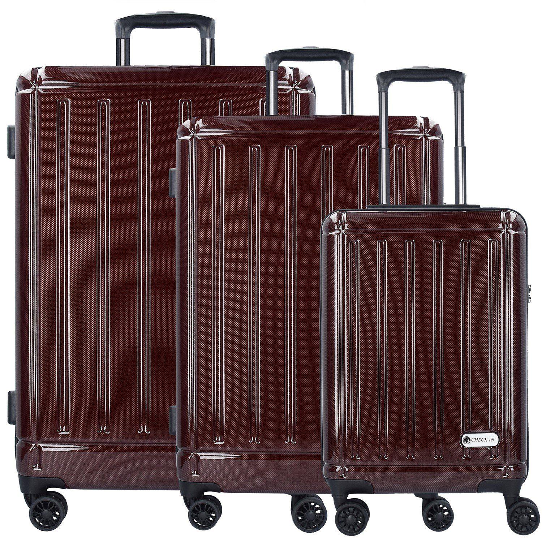 CHECK.IN® Halifax 4-Rollen Kofferset 3tlg. mit Doppelrollen