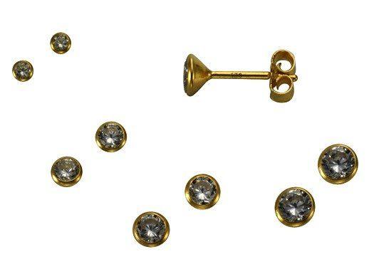 Firetti Ohrstecker »935/- Sterling Silber vergoldet«